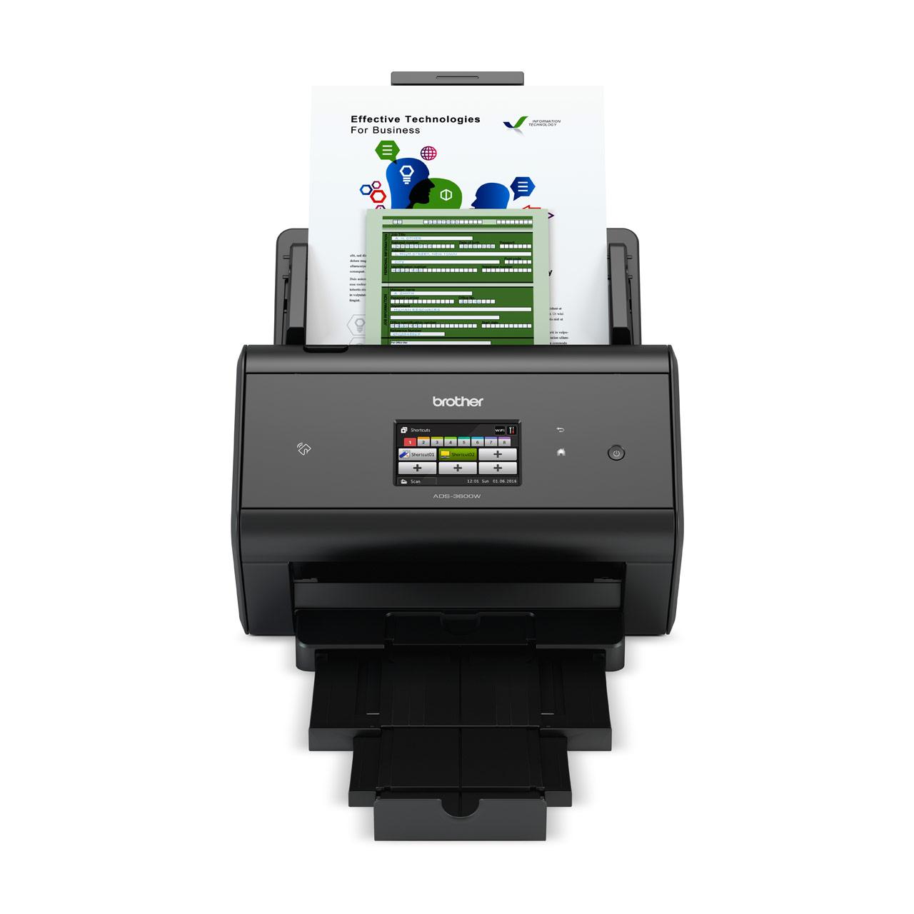 ADS-3600W, High-Speed Wired & Wireless Network Document Scanner ...