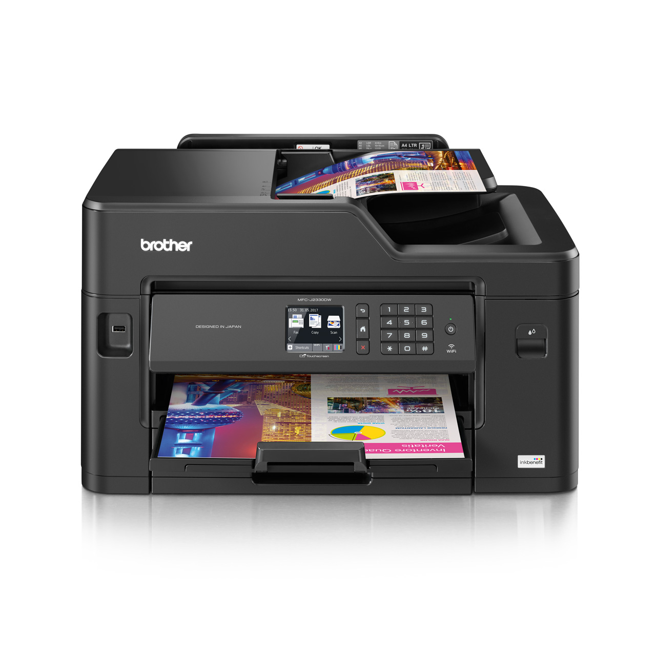 Mfc j2330dw inkbenefit multi function business inkjet colour mfc j2330dw front reheart Image collections